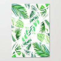 Leaf tropical pattern  Canvas Print