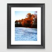 The Frozen River Framed Art Print