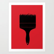 City Brush Art Print
