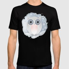 Snowy Owl SMALL Mens Fitted Tee Black