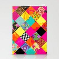 Retro squares Stationery Cards