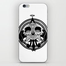 skull and pen iPhone & iPod Skin