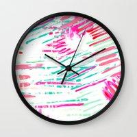 Pastel Lines Wall Clock
