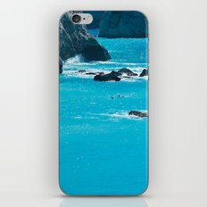 Blue Paradise, seascape photography. Mediterranean blue sea, summer vacations iPhone & iPod Skin