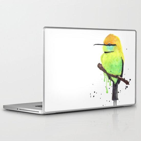 Green Bee eater Laptop & iPad Skin