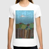 BigFoot Forest (Colour) Womens Fitted Tee White SMALL