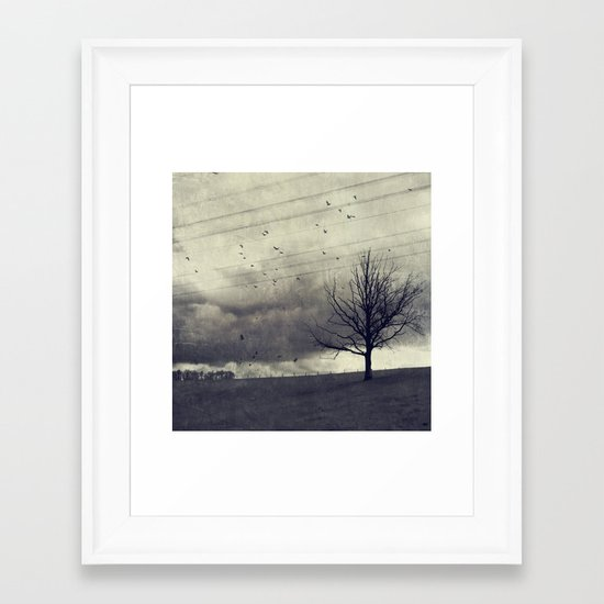 one of these days - autumn mood Framed Art Print
