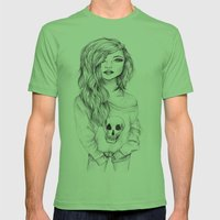 Sketch Mens Fitted Tee Grass SMALL