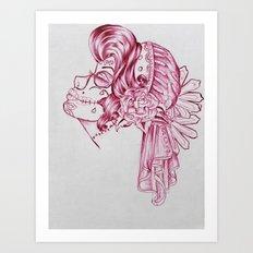 Red Mirror Gypsy Art Print