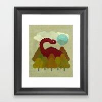 RED DINO Framed Art Print