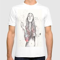 SmkngWomen Mens Fitted Tee White SMALL