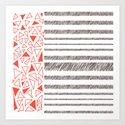 Red Rectangles Pattern Art Print