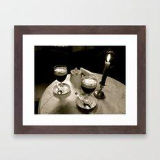 Last time we spoke/La dernière fois nous avons parlé Framed Art Print