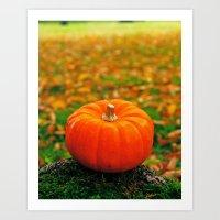 Perfect pumpkin Art Print
