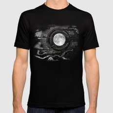 Moon Glow Mens Fitted Tee Black SMALL