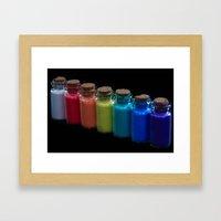 Powder Paint Pigments Framed Art Print