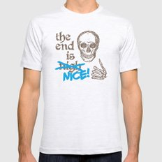 The End Is Nice Mens Fitted Tee Ash Grey SMALL