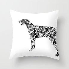 Doberman Scribble Throw Pillow