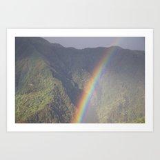Himalayan Rainbow Art Print
