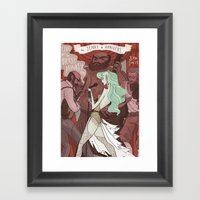 The Jenny Hanivers gig poster Framed Art Print