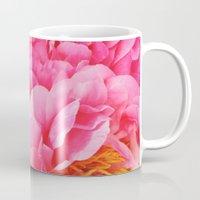 Hot Pink Peony Mug