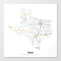 Highways Of The USA – … Canvas Print