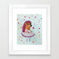 magical Hedgehog Framed Art Print