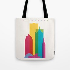 Shapes of Milwaukee. Accurate to scale Tote Bag