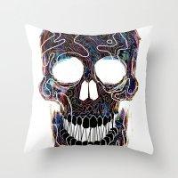 Chromatic Skull V.04 Throw Pillow