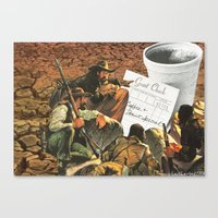 Who's Going To Pay This Time ? Canvas Print