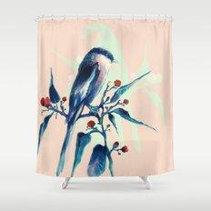 Hashtag Blue Bird Shower Curtain