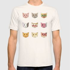 Food & Cats Mens Fitted Tee Natural SMALL
