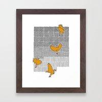 Pencil Birds Framed Art Print