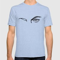 inked eyes Mens Fitted Tee Athletic Blue SMALL