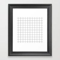 Black And White Grid Wat… Framed Art Print