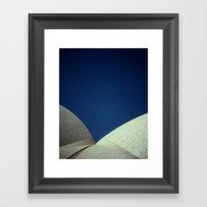 Opera House Polaroid Framed Art Print