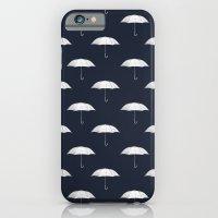 Blue umbrella iPhone 6 Slim Case