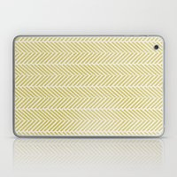 GREEN HERRINGBONE  Laptop & iPad Skin