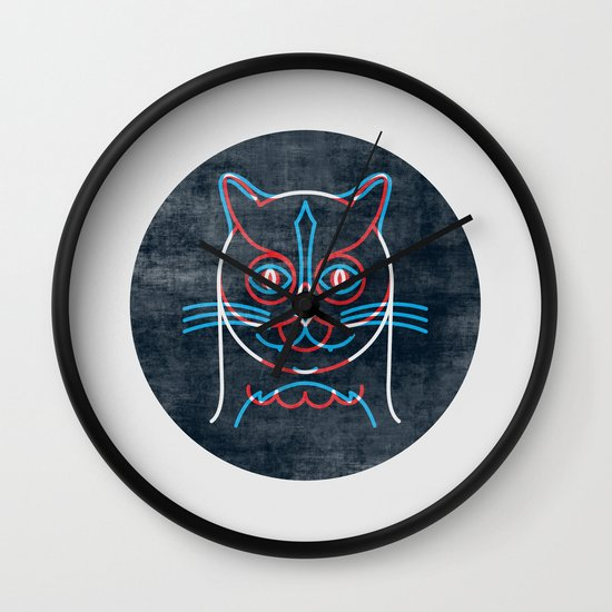 The Pussycat and The Owl Wall Clock