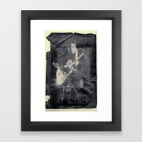 M. Ward Framed Art Print