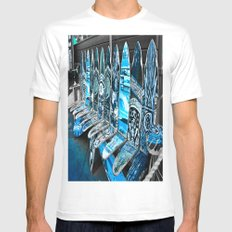 Skate Seats SMALL White Mens Fitted Tee