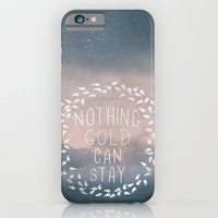 iPhone & iPod Case featuring Nothing Gold Can Stay I by Zyanya Lorenzo