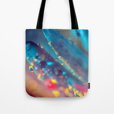 Electric Blue Floral Dew   Tote Bag