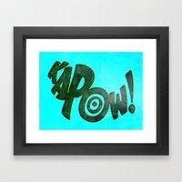 KAPOW! # 1 Framed Art Print