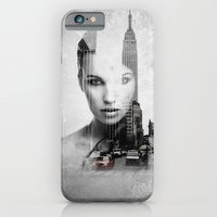 iPhone Cases featuring london girl  by davidmichel