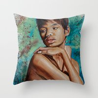 Colorful Whispers Of Int… Throw Pillow