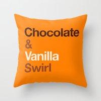Chocolate & Vanilla Swir… Throw Pillow