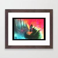 dream fox Framed Art Print