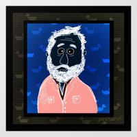 Man With Beard Haunted B… Art Print