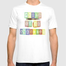 Proud  Mens Fitted Tee SMALL White
